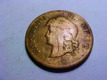 1886 CHILE 2 1/2 CENTAVOS
