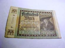 1922 GERMANY 5000 MARK BANKNOTE