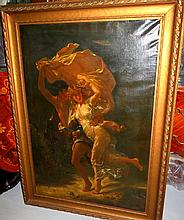 Oil on Canvas ,Old Reproduction of