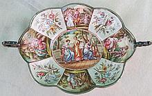 Vienna Centerpiece Enameled Silver C.1800