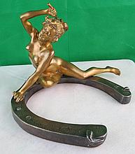 Bronze by Recipon,Naked Lady,French.C.1900