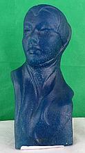 Pate de Verre Bust Lady by George Despret ,C.1920