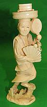 Ivory Sculpture - Farmer - H: 6.5