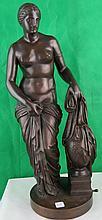 Bronze Roman Bathing Lady by A.Ronrich-Rome