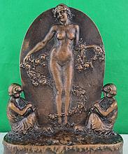 ArtNouveau Bronze Plaque by M.Charpentier