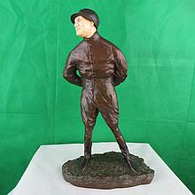 Bronze and Ivory  Max Dearby signed P.E. Gaureau