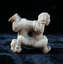 Old Ivory  Netsuke Acrobats 2