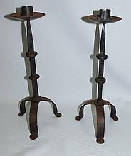 Pair of Art Deco candlesticks atrib. Giacometti