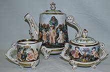 Capodimonte Tea Set 3 pieces