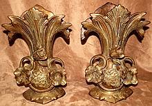 Art Nouveau Bronze Vases  H-11.5