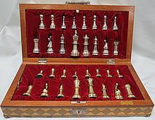 Silver .925  Chess Set . 3,285 grs. (106 oz. ) total