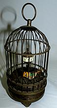 Chinese Cage Clock with Moving bird H-6