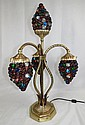 Bronze & Murano Glass (Grapes) Table Lamp
