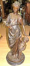 Auguste Moreau Bronze Sculpture.  H-38