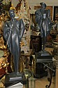 Art Deco Pair of Sculptures Signed H: 31