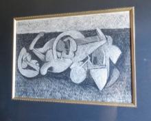 R. Tamayo Charcoal on Paper w/COA Art: 13