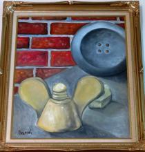 A. Berni Oil on Canvas 18