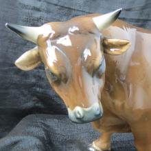 Italian Ceramic , Bull figure C.1930--. 24