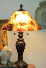 Reverse Painting Table lamp H: 22