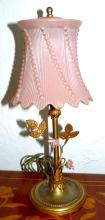 Art Nouveau Lamp Glass Shade France 1930 H:13