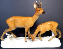 Hutchenreurther  Porcelain Deer Figure H: 10