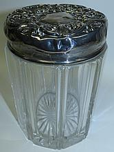 Crystal and Silver Jar