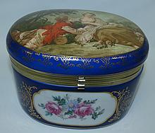Sevres Style Jewelry Box, Mark:R