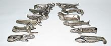 Art Deco Set of 12 Cutlery rests, 1930