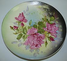 Porcelain Plate Victoria Austria, Flowers