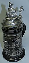 Tankard , Porcelain and Metal , AfrikaKorps