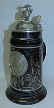 Tankard , Porcelain and Metal, U.S. Marine Corps