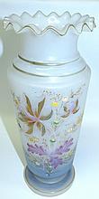Opaline Vase Floral Motif , France 1930, Original