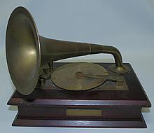 Music Box Phonograph Shaped ,Swiss.