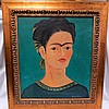 Frida Kahlo Image ,not original, hand painted ., Frida Kahlo, $400