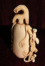 Ivory Snuff Bottle , Ants Climbing H: 3
