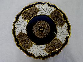 Porcelain Plate Weimar Germany Cobalt Blue