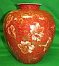 Rosenthal Porcelain Vase with Flowers H: 11