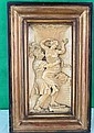 Magnificent Ivory Plaque  XVIII century, High Relief