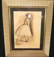 Degas - Pastel on Paper - Dancer 15