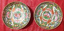 Pair of Chinese Export Porcelain Bowls D: 3.5