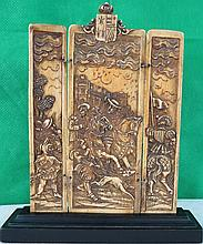 Ivory Triptych Sculpture Germany 1800 3.5