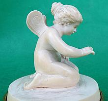 Ivory Sculpture of Angel - Germany 1900 H: 3