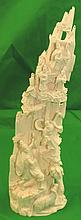 Ivory Mountain Chinese Sculpture (1900) H: 10