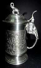 Thailand Tankard with Elephant scenes H-5.5