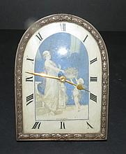 Ivory and Silver Clock H: 4