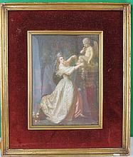 Miniature over Ivory France 1890 7
