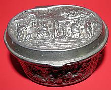 Pewter Jewelry Box , small damage