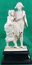 Ivory Sculpture - Couple  Germany 1890 H: 6