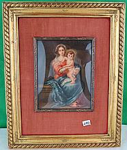 Miniature over Ivory - Virgin Mary