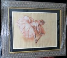 Degas - Mixed Media on Paper - w/ COA Dancer